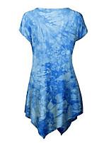 Tee-shirt Femme,Couleur Pleine Imprimé Sortie Vacances Vintage Chinoiserie Eté Manches Courtes Col Arrondi Coton Fin