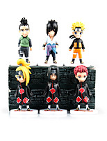 Anime Action Figures Inspired by Naruto Sasuke Uchiha PVC 11 CM Itachi Uchiha Model Toys Doll Toy 6PCS