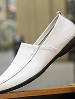 Белый Черный Желтый Коричневый-Для мужчин-Повседневный-ПолиуретанУдобная обувь-Мокасины и Свитер