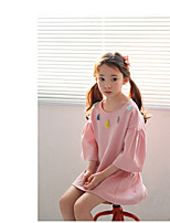 Girl's Casual/Daily Solid Dress,Others Summer ¾ Sleeve