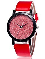 Unisex Fashion Watch Chinese Quartz PU Band Casual Black White Blue Red Pink