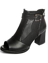 Women's Heels Spring Comfort PU Casual Beige Black White