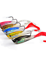 5 pcs Soft Bait Jigs Others Fishing Lures Soft Bait Jigs Jig Head Shad Assorted Colors g/Ounce,100 mm/4