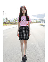 Women's Mid Rise Knee-length Skirts,Simple A Line Solid