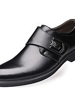 Черный Темно-русый-Для мужчин-Для прогулок Для офиса Повседневный Для вечеринки / ужина-Наппа LeatherУдобная обувь-Туфли на шнуровке