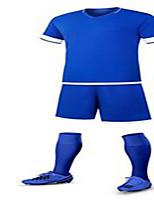 Unisexe Football Survêtement Respirable Confortable Printemps Eté Automne Hiver Couleur Pleine Polyester Football