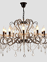 LightMyself 10 Lights Crystal Chandelier Modern/Contemporary Traditional/Classic Rustic/Lodge Vintage Retro Country Painting Feature for LED Metal
