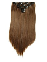 Synthetic hair Extensions 25inch Long 180g Straight Fake False Hair Extension Heat Resistant Synthetic Natural Hair Extension D1021 2/30#