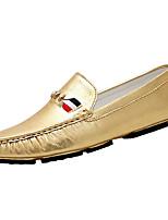 Золотой Серебряный-Для мужчин-Повседневный-Полиуретан-На плоской подошве-Мокасины-Мокасины и Свитер