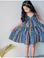 Girl's Lattice Dress,Cotton Summer Sleeveless