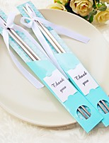 10Pair/Lot East Meets WestStainless Steel Chopsticks Favor Bridesmaids Party / Wedding Gifts / Debutante Ball / Bridal Shower Favours