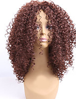 Fashion Brown Color Wigs For Black Women Curly Synthetic Women European Wigs