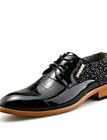 Men's Oxfords Comfort Leather Office & Career Casual Red Black