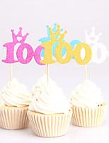 Decorações de Bolo Não-personalizado Papel de Cartão Aniversário Chá de Bébe Festa de 16 Anos Design Esculpido Tema Clássico PPO