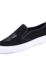 Черный Радужный-Для мужчин-Повседневный-ПолиуретанУдобная обувь-Мокасины и Свитер