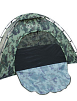1 personne Tente Unique Tente pliable Une pièce Tente de camping 2000-3000 mm Fibre de verre Oxford Etanche Portable-Randonnée Camping-