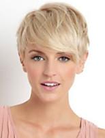 Enchanting Elegant  Straight Short Human Hair Wig Fashionable     Woman hair