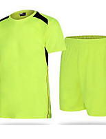 Men's Running Sports Wear Football/Soccer Polyester Green and Black Black/Red Orange+White Red+Golden Solid
