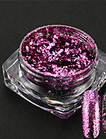 1g/bottle Fashion Sweet Style Nail Art Glitter Powder Purple Magical Mirror Romantic Starry Sky Effect Shining Decoration Irregular Flakes 3V03