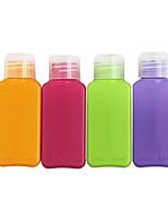 4 PIEZAS Set de Botellas de Viaje Portable Aceptado por Aerolíneas/TSA para Almacenamiento para Viaje PP (Polipropileno)