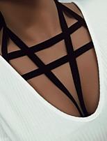 Ultra Sexy Vêtement de nuit Femme,Sexy Couleur Pleine-Mince Acrylique Spandex Aux femmes