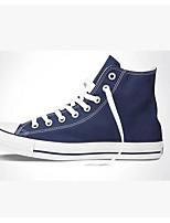 Белый Черный Синий-Для женщин-Повседневный-ПолотноУдобная обувь-Кеды