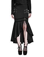 Punk Rave Q-293 Women's Sexy Vintage Punk Gothic Mermaid Ruffle Skirts