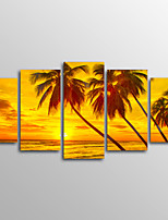 Canvas Print Landscape Modern,Five Panels Canvas Horizontal Print Wall Decor For Home Decoration