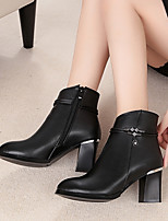 Women's Boots Spring Comfort PU Casual Black