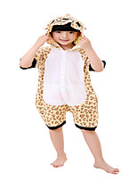 Kigurumi Pajamas Bear Leotard/Onesie Festival/Holiday Animal Sleepwear Halloween Coffee Leopard Cotton Cosplay Costumes ForUnisex Female Kid