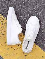 Women's Sneakers Spring Comfort PU Casual Light Blue Black White