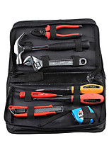 JTECH Steel Handle Claw Hammr Medium-Sized Art Knife Digital Measuring Pen Two-Color Handle Wire Clamp 8 Pieces 180008 Manual Tool Set