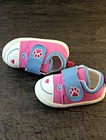 ילדים תינוק נעליים ללא שרוכים צעדים ראשונים בד אביב סתיו קזו'אל צעדים ראשונים עקב שטוח אדום כחול ורוד ס