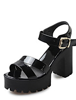 Women's Heels Spring Summer Fall Comfort PU Office & Career Dress Chunky Heel Buckle