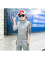 Women's Long Sleeve Running Tracksuit Comfortable Fall/Autumn Sports Wear Running Cotton Slim