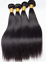 Natural Color Hair Weaves Mongolian Texture Straight 12 Months 4 Pieces hair weaves