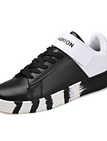 Men's Sneakers Spring Summer Fall Winter Comfort PU Office & Career Athletic Casual Hook & Loop Lace-up Walking