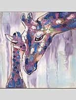 Oil Paintings Giraffe Style Canvas Material With Wooden Stretcher Ready To Hang Size60*60CM and 70*70CM .