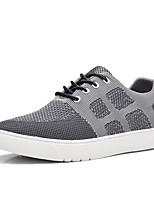 Hombre-Tacón Plano-Confort-Zapatillas de deporte-Exterior Oficina y Trabajo Informal-Tejido-