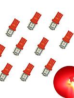 10Pcs T10 5*5050  SMD LED Car Light bulb red Light DC12V