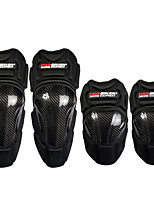 Carbon Fiber Pro-Biker Motorcycle Elbow & Knee Pads Protectors Guards Motocross Equipment Knee Protection Gear P18