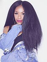 densidade 130% perucas Kinky em linha reta 100% remy brasileiro do cabelo humano do laço completo para as mulheres