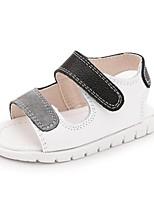 Kids' Sandals Spring Summer First Walkers Cowhide Casual Flat Heel Black White