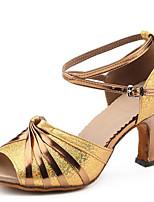 Keine Maßfertigung möglich-Stöckelabsatz-Kunstleder-Latin-Damen