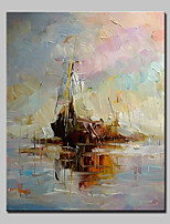Hand-Painted Modern Abstract Sailing Oil Painting On Canvas Wall Art For Home Decoration Ready To Hang 80*100cm