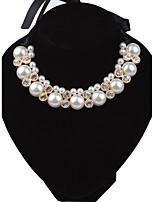 Damen Ketten Runde Form Perle Krystall Strass Stoff Aleación Künstliche Perle Modisch Punkstil Euramerican Luxus-Schmuck Schmuck Für
