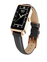 Men's Smart Watch Fashion Watch Digital Genuine Leather Band Black