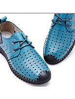 Черный Желтый Синий-Для мужчин-Повседневный-Кожа-На плоской подошве-Удобная обувь-Мокасины и Свитер