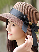 Women 's Beach Vacation Summer Bow Shopping Beach Straw Hat