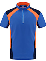 LEIBINDI®Men's Short Sleeve Running T-shirt Breathable Quick Dry Wearable Comfortable Summer Sports Wear Exercise & Fitness Running